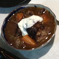 夕餉レシピ005(牛すね肉の赤ワイン煮込み)