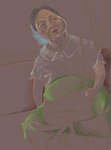 地下鉄の老婆